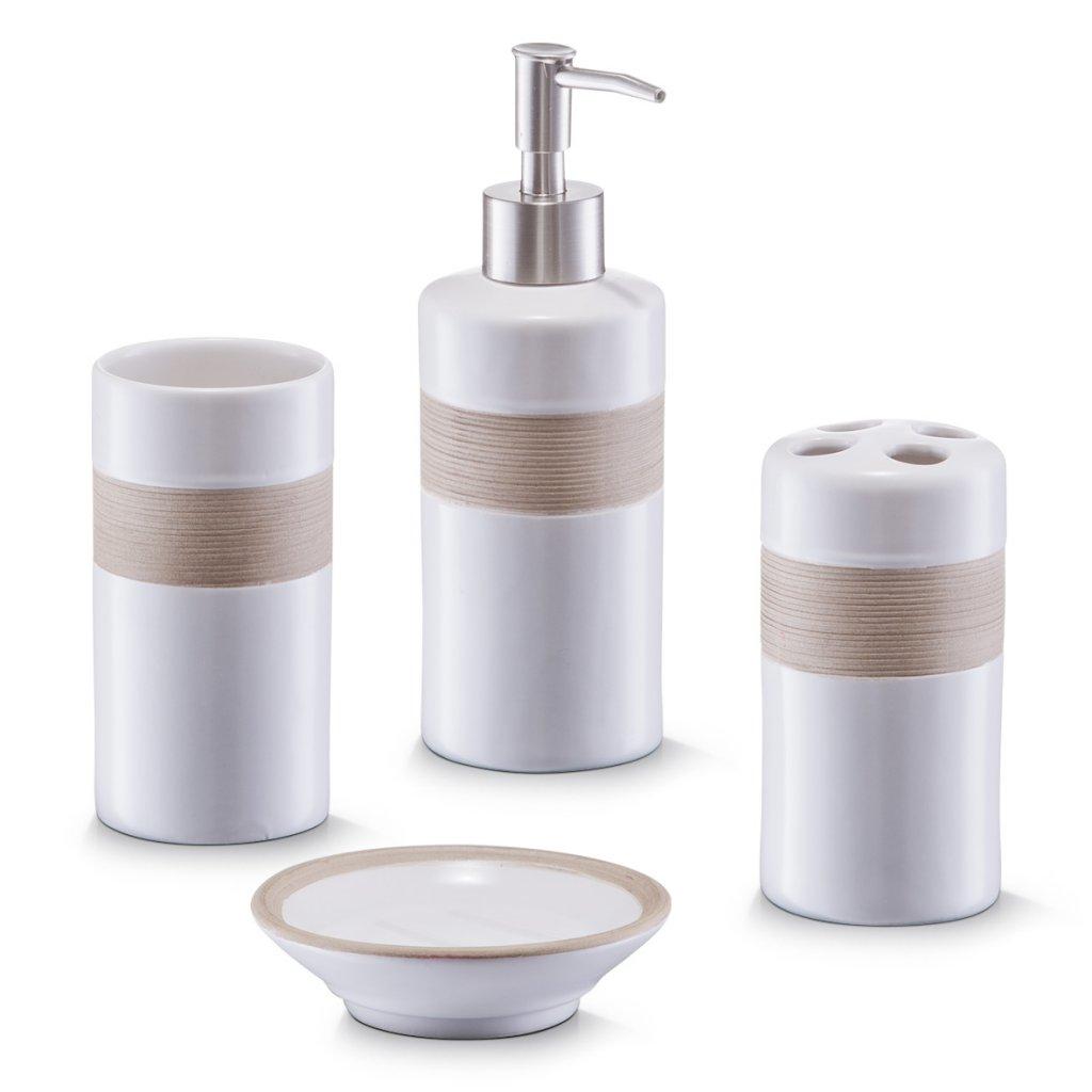 Zeller Present 18260 Koupelnová sada krémová/béžová keramika, Zeller