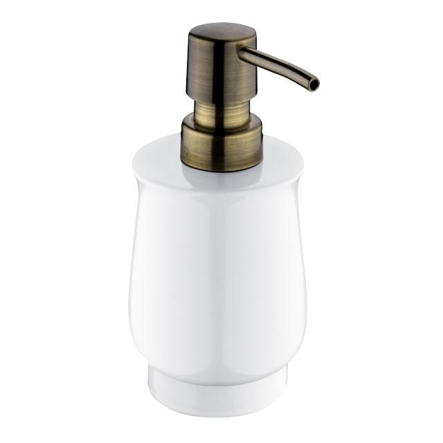Nimco Lada dávkovač na tekuté mýdlo na postavení, staromosaz, 1031LA-65