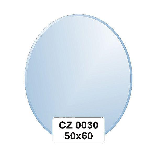 Ellux Zrcadlo oválné s fazetou FBS CZ - 0030 (rozměr 50*60cm)