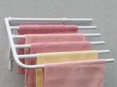 Sušáky Sušák ručníků na stěnu bílý D550