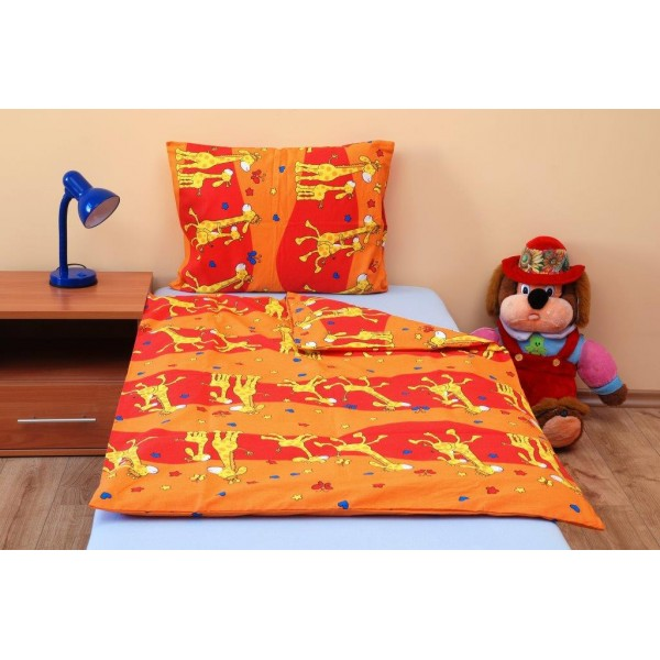 Brotex dětské povlečení Žirafa oranžová