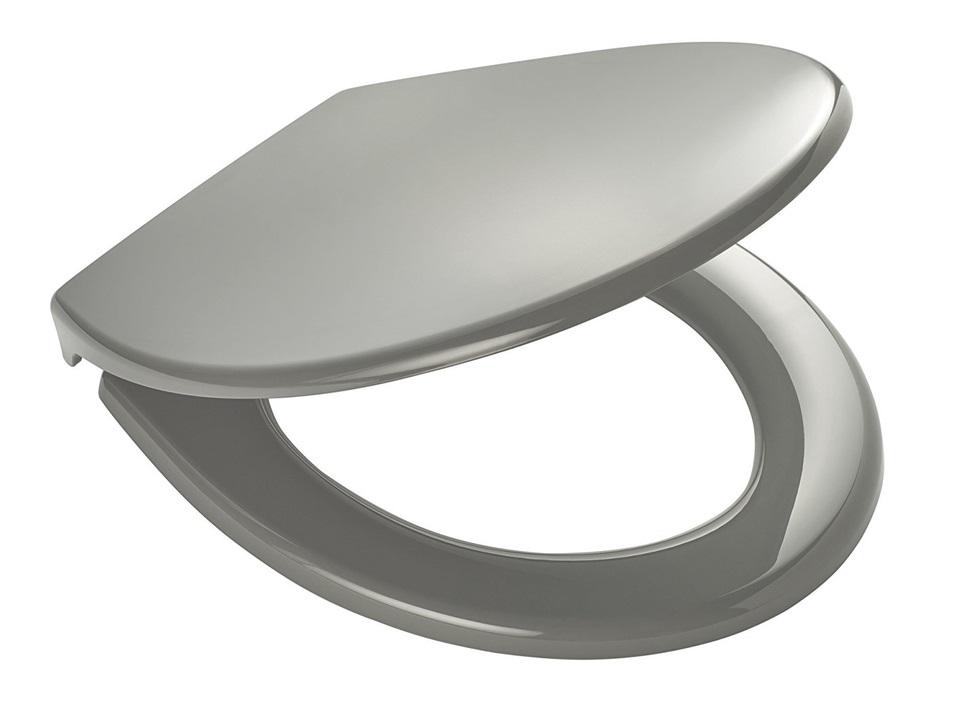 Ridder MIAMI 02101107 WC sedátko, soft close, PP termoplast - šedá 44,3 × 37 cm
