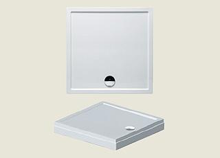 Riho sprchová vanička 273 100*80*4,5cm s panelem a nožičkami