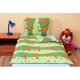 Brotex dětské povlečení Žirafa zelená bavlna 45/60+90/135 cm