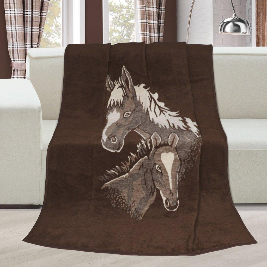Brotex Deka Karmela koně 150x200 cm