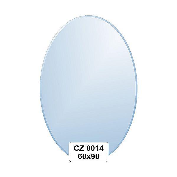Ellux Zrcadlo oválné s fazetou FBS CZ - 0014 (rozměr 60*90cm)