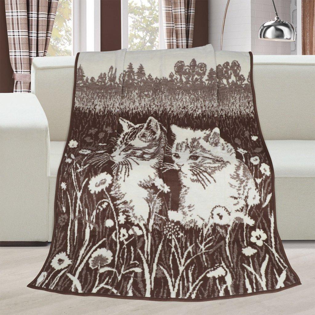 Brotex Deka Karmela koťata 150x200 cm