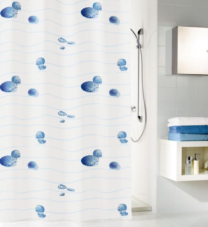 Kleine Wolke MIAMI Sprchový závěs 180*200cm, textil, bez kroužků