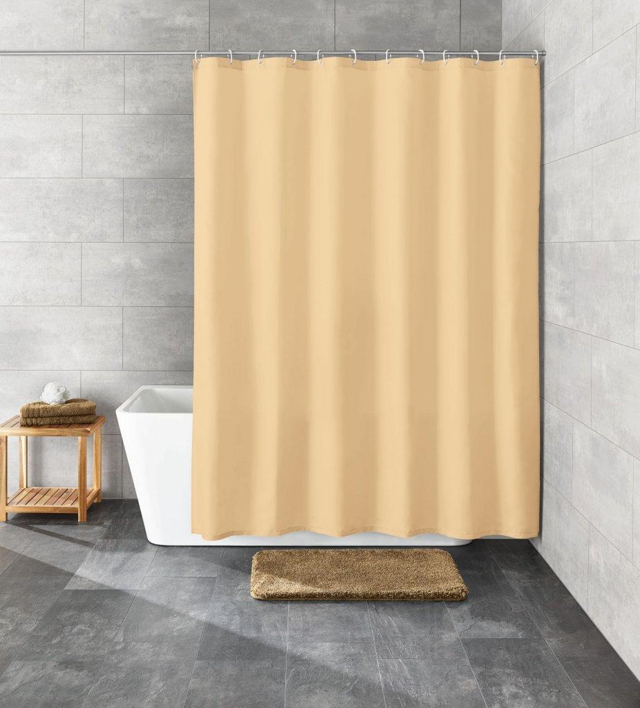 Kleine Wolke KITO přírodní, Sprchový závěs 120x200cm, textil, bez kroužků