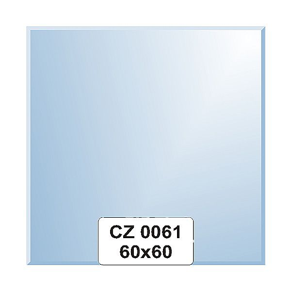 Ellux Zrcadlo čtverec s fazetou FBS CZ - 0061 (rozměr 60*60cm)