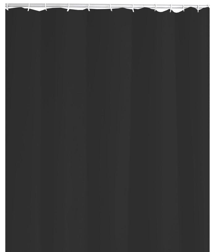 Ridder 31310 STANDARD Sprchový závěs, PVC - černý 180 × 200 cm, bez kroužků