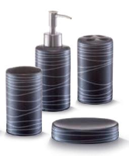 Zeller Present 18252 Koupelnová sada černá keramika, Zeller
