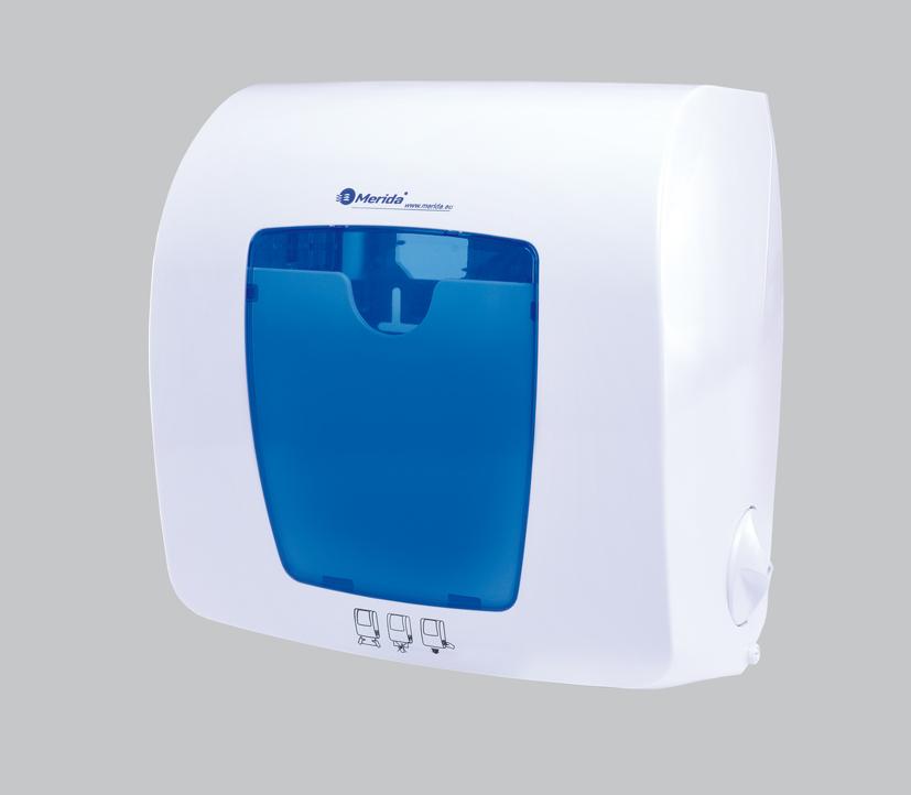 Merida AKCE Omnipuls-CTN401 Automat. dávkovač papír. ručníků v rolích TOP MINI(modrý)+3 bal.RAZ401