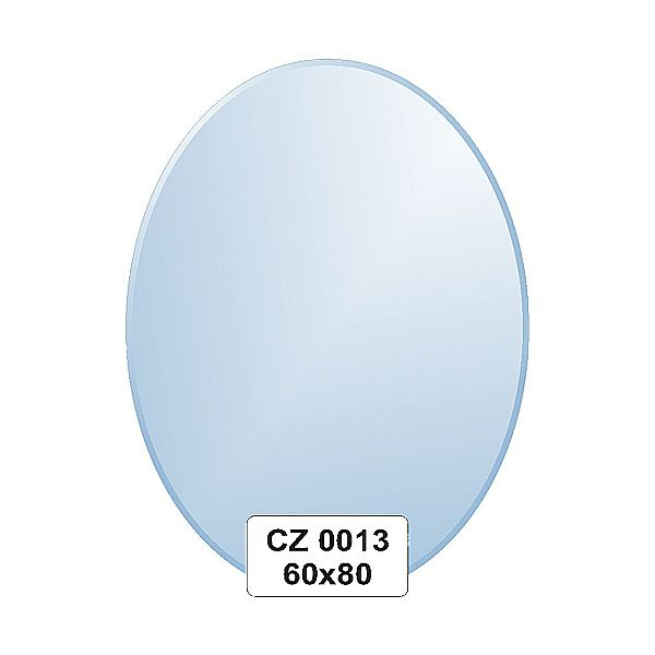 Ellux Zrcadlo oválné s fazetou FBS CZ - 0013 (rozměr 60*80cm)