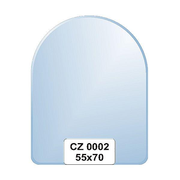 Ellux Zrcadlo zaoblené s fazetou FBS CZ - 0002 (rozměr 55*70cm)