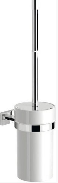 Sapho VÝPRODEJ -OLYMP WC štětka nástěnná keramická, chrom