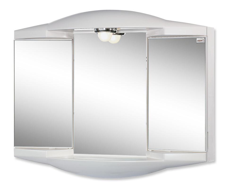 Jokey CHICO GL Zrcadlová skříňka - bílá š. 62 cm, v. 52 cm, hl. 18 cm
