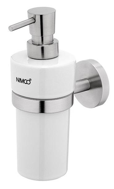 Nimco Unix NEREZ UNM 13031KN-T-10, dávkovač tekutého mýdla, broušená nerez, keramika, mosazná pumpič
