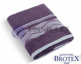 BROTEX Froté ručník 480g vlnka burgundy 50 x 100 cm
