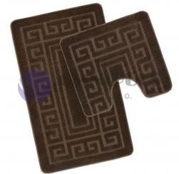 Bellatex koupelnové předložky Tmavě hnědá romance 60 x 100, 60 x 50 cm