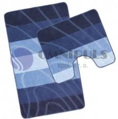 Bellatex koupelnové předložky Modrá vlna, 60 x 100, 60 x 50 cm
