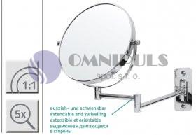 Ridder 03104100 BELLE Zvětšovací kosmetické zrcátko 5× - nástěnné chrom