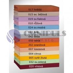 Brotex Jersey prostěradlo na jednolůžko 90*200cm, sv. fialové (019)