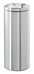 Merida KMS12 - Odpadkový kovový koš samozhášecí 30 l nerez lesk