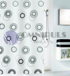 Kleine Wolke Luna, Sprchový závěs 180*200cm, textil, bez kroužků