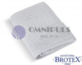 Brotex Froté ručník Mozaika 550g světle šedá 50 x 100 cm