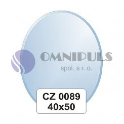 Ellux Zrcadlo oválné s fazetou FBS CZ - 0089 (rozměr 40*50cm)