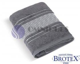 Brotex Froté ručník Mozaika 550g tmavě šedá 50 x 100 cm
