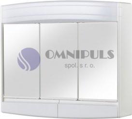 Jokey TOPAS ECO zrcadlová skříňka s osvětlením bílá 63x53x18 cm
