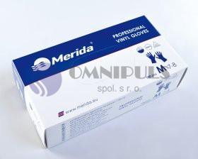 Merida TRT562 - Rukavice vinylové L, 100 ks/balení