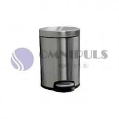 Merida KIM413 - Odpadkový koš s pedálem SILENT, kovový, matový, 5 l