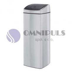 Merida KMS43 - Odpadkový kovový koš s víkem Touch Bin 25 l nerez lesk