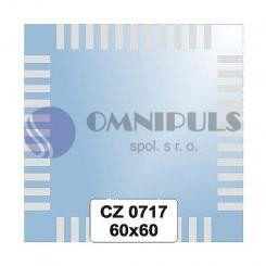 Ellux Ornamentální zrcadlo čtvercové FBS CZ - 0717 (rozměr 60*60cm)