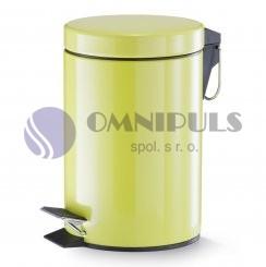 Zeller Present ODPADKOVÝ KOŠ NÁŠLAPNÝ 3 L, Zeller, žlutozelený, 18201, doprodej