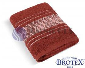 Brotex Froté ručník Mozaika 550g terra 50 x 100 cm