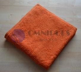 Brotex Froté ručník 50x100cm bez proužku 450g oranžový