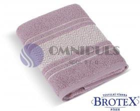 Brotex Froté ručník Mozaika 550g starorůžová 50 x 100 cm
