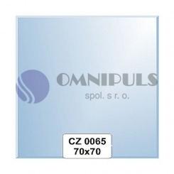 Ellux Zrcadlo čtverec s fazetou FBS CZ - 0065 (rozměr 70*70cm)