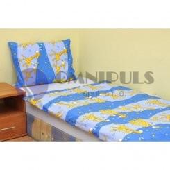 Brotex povlečení Žirafa modrá bavlna 140x200 70x90 cm