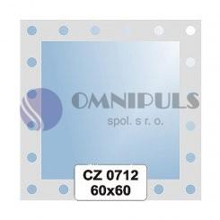 Ellux Ornamentální zrcadlo čtvercové FBS CZ - 0712 (rozměr 60*60cm)