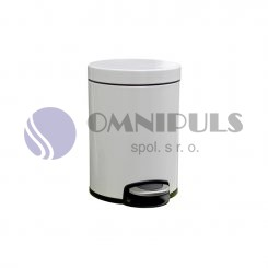 Merida KIB413 - Odpadkový koš s pedálem SILENT, kovový, bílý, 5 l
