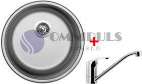 Set Sinks ROUND 450 V + PRONTO, nerezový dřez + baterie Pronto