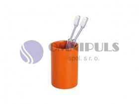 Wenko Polaris kelímek na kartáčky keramický pomerančový, doprodej