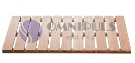Ridder 211072.11 koupelnový rošt, obdélníkový, 100% bambus, přírodní barva 38 × 72 cm