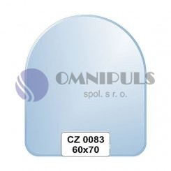 Ellux Zrcadlo zaoblené s fazetou FBS CZ - 0083 (rozměr 60*70cm)