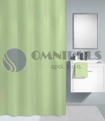Kleine Wolke KITO Distel zelený, Sprchový závěs 120x200cm, textil, bez kroužků